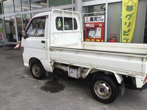 小林石油 1日車検 津市車検 車検安い 出光 IDEMITSU ダイハツ DAIHATSU ハイゼットトラック